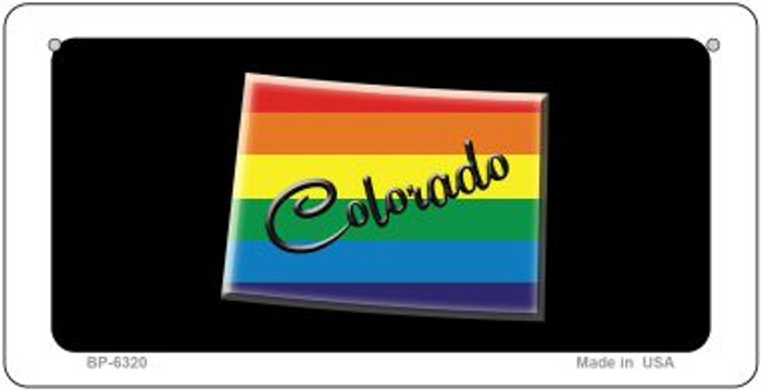 Colorado Rainbow State Novelty Metal Bicycle Plate BP-6320
