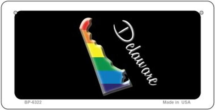 Delaware Rainbow State Novelty Metal Bicycle Plate BP-6322