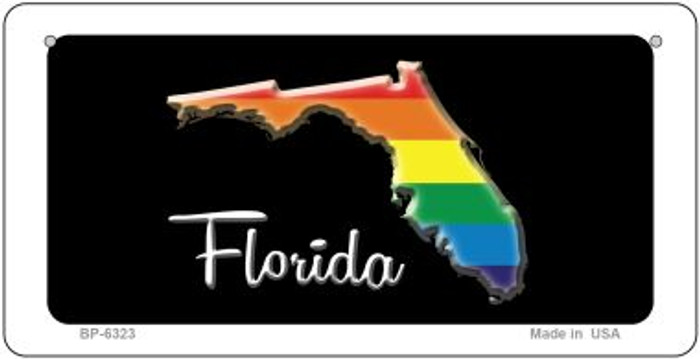 Florida Rainbow State Novelty Metal Bicycle Plate BP-6323