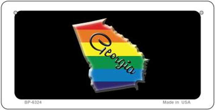 Georgia Rainbow State Novelty Metal Bicycle Plate BP-6324