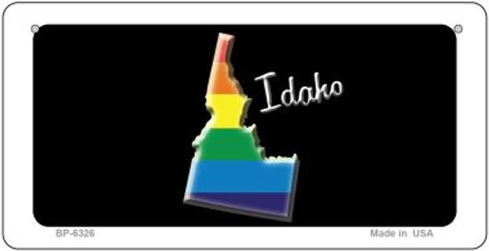 Idaho Rainbow State Novelty Metal Bicycle Plate BP-6326