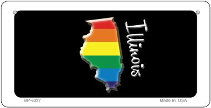 Illinois Rainbow State Novelty Metal Bicycle Plate BP-6327