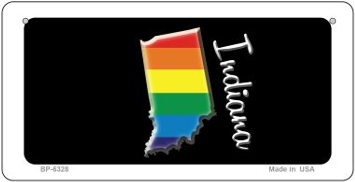 Indiana Rainbow State Novelty Metal Bicycle Plate BP-6328