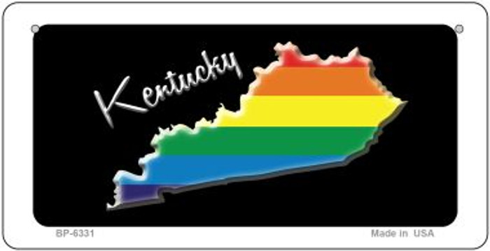 Kentucky Rainbow State Novelty Metal Bicycle Plate BP-6331