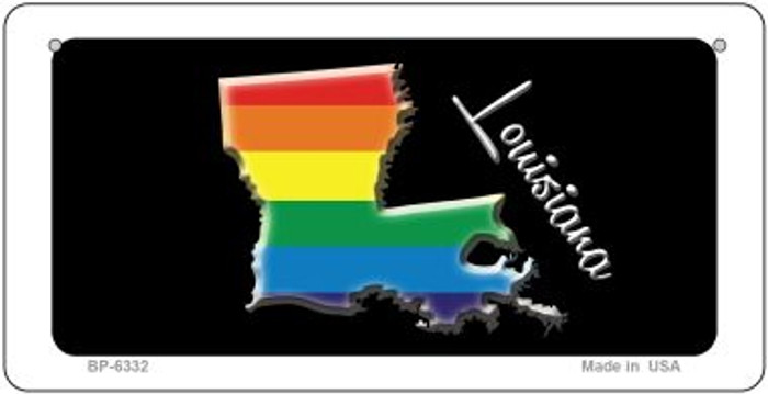 Louisiana Rainbow State Novelty Metal Bicycle Plate BP-6332