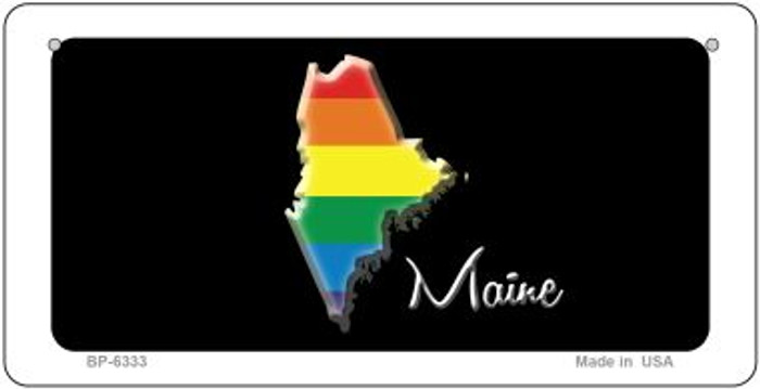 Maine Rainbow State Novelty Metal Bicycle Plate BP-6333