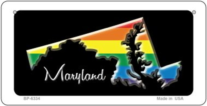 Maryland Rainbow State Novelty Metal Bicycle Plate BP-6334
