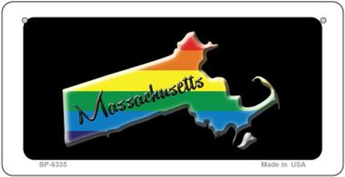 Massachusetts Rainbow State Novelty Metal Bicycle Plate BP-6335