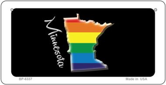 Minnesota Rainbow State Novelty Metal Bicycle Plate BP-6337