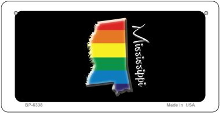 Mississippi Rainbow State Novelty Metal Bicycle Plate BP-6338