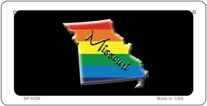 Missouri Rainbow State Novelty Metal Bicycle Plate BP-6339