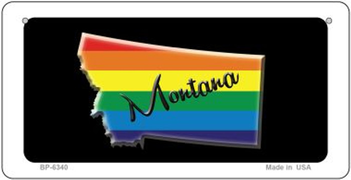 Montana Rainbow State Novelty Metal Bicycle Plate BP-6340