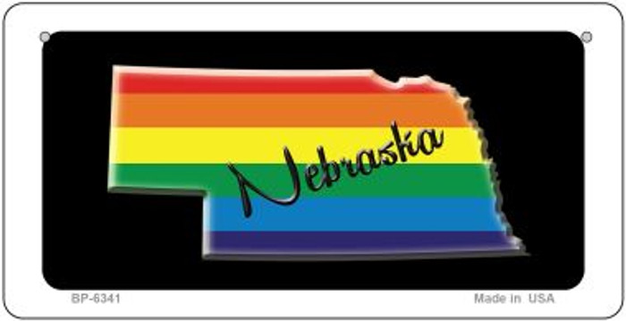 Nebraska Rainbow State Novelty Metal Bicycle Plate BP-6341