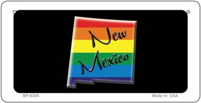 New Mexico Rainbow State Novelty Metal Bicycle Plate BP-6345