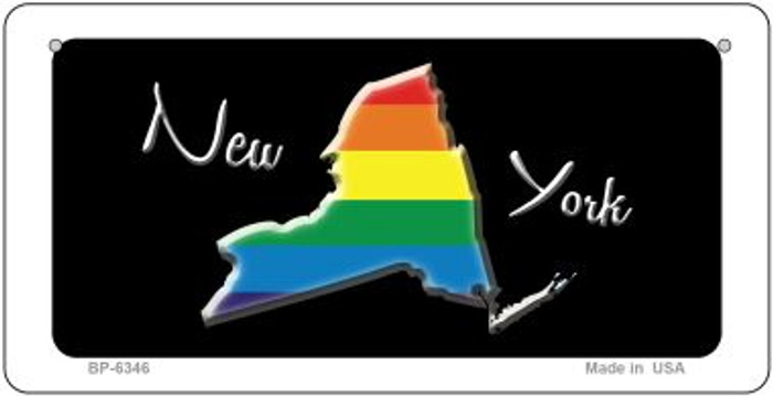 New York Rainbow State Novelty Metal Bicycle Plate BP-6346