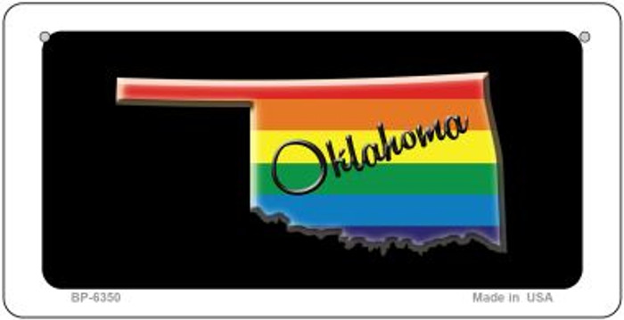Oklahoma Rainbow State Novelty Metal Bicycle Plate BP-6350
