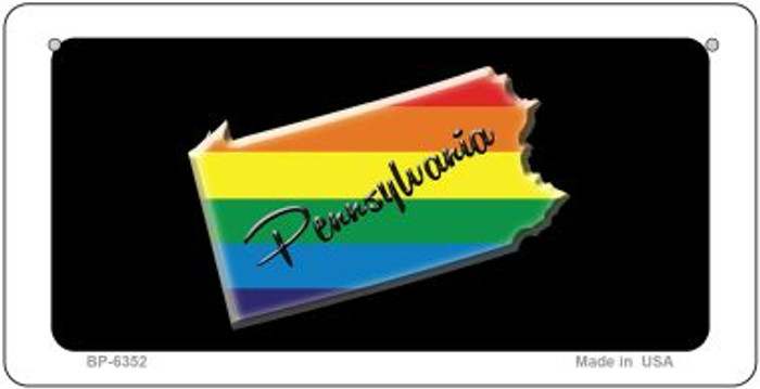 Pennsylvania Rainbow State Novelty Metal Bicycle Plate BP-6352
