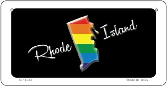 Rhode Island Rainbow State Novelty Metal Bicycle Plate BP-6353