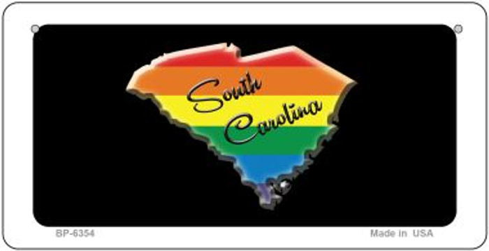 South Carolina Rainbow State Novelty Metal Bicycle Plate BP-6354