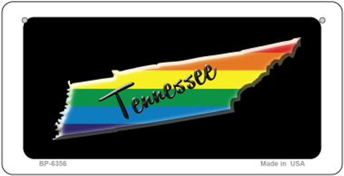 Tennessee Rainbow State Novelty Metal Bicycle Plate BP-6356