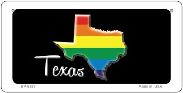 Texas Rainbow State Novelty Metal Bicycle Plate BP-6357