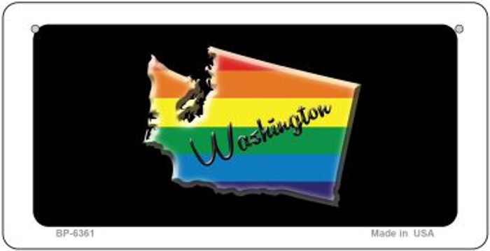 Washington Rainbow State Novelty Metal Bicycle Plate BP-6361
