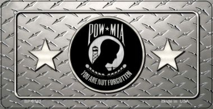 POW MIA Diamond Novelty Metal Bicycle Plate BP-8542