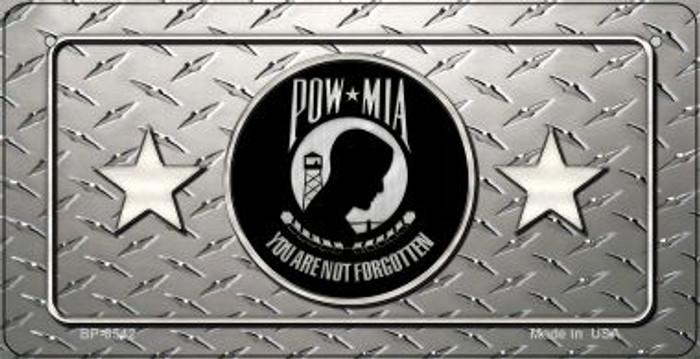 POW MIA Diamond Novelty Metal Bicycle Plate BP-8542