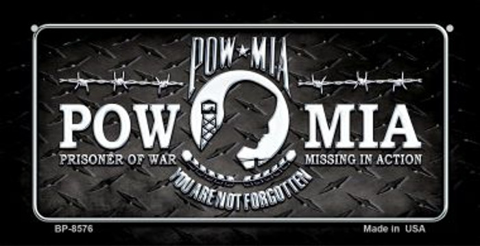 POW MIA Novelty Metal Bicycle Plate BP-8576