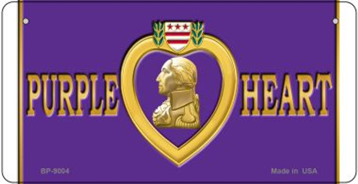 Purple Heart Novelty Metal Bicycle Plate BP-9004