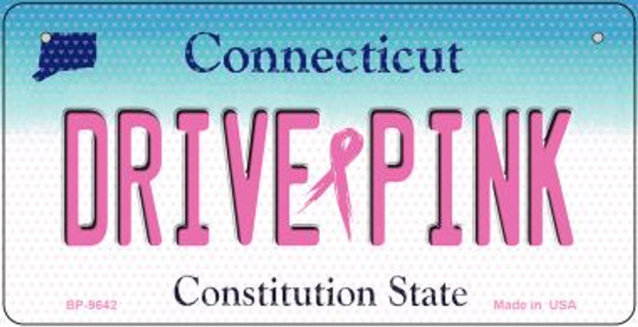 Drive Pink Connecticut Novelty Metal Bicycle Plate BP-9642