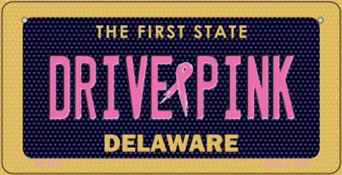 Drive Pink Delaware Novelty Metal Bicycle Plate BP-9643