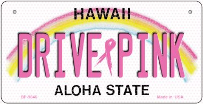 Drive Pink Hawaii Novelty Metal Bicycle Plate BP-9646