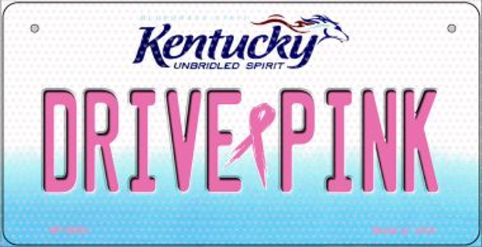 Drive Pink Kentucky Novelty Metal Bicycle Plate BP-9652
