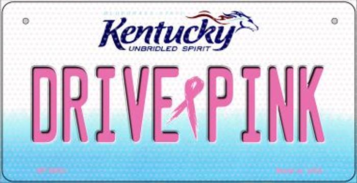 Drive Pink Kentucky Novelty Metal Bicycle Plate BP-9652