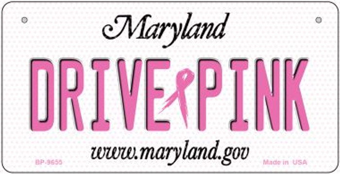 Drive Pink Maryland Novelty Metal Bicycle Plate BP-9655