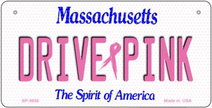 Drive Pink Massachusetts Novelty Metal Bicycle Plate BP-9656