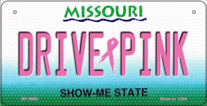 Drive Pink Missouri Novelty Metal Bicycle Plate BP-9660