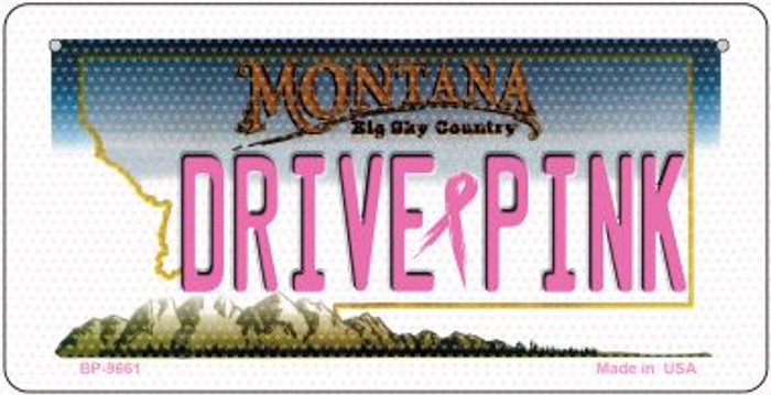 Drive Pink Montana Novelty Metal Bicycle Plate BP-9661