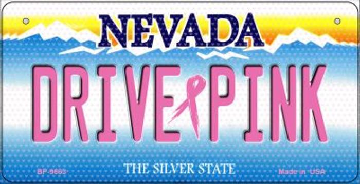 Drive Pink Nevada Novelty Metal Bicycle Plate BP-9663
