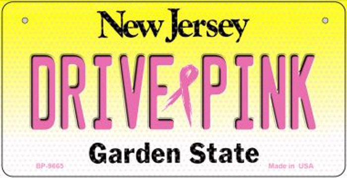 Drive Pink New Jersey Novelty Metal Bicycle Plate BP-9665
