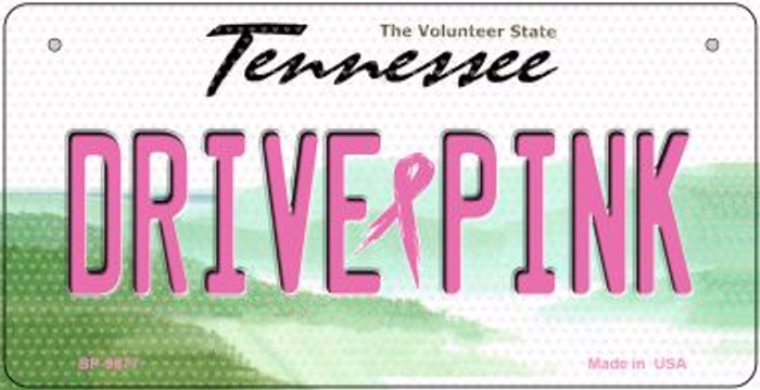 Drive Pink Tennessee Novelty Metal Bicycle Plate BP-9677