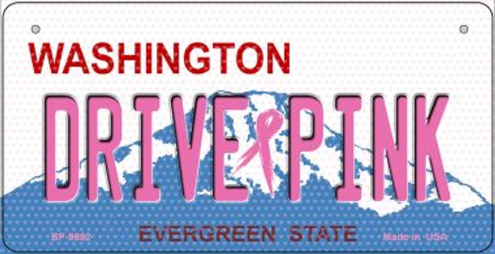Drive Pink Washington Novelty Metal Bicycle Plate BP-9682