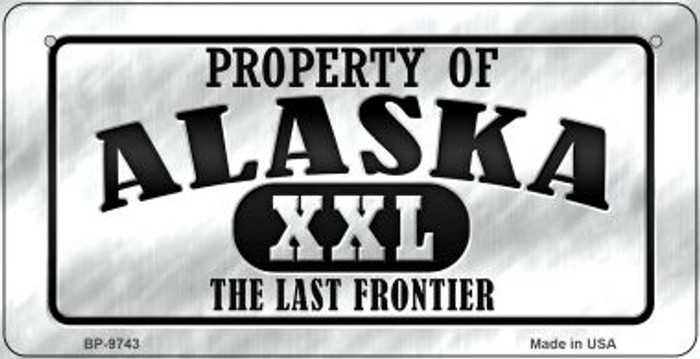Property Of Alaska Novelty Metal Bicycle Plate BP-9743