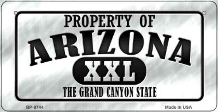 Property Of Arizona Novelty Metal Bicycle Plate BP-9744