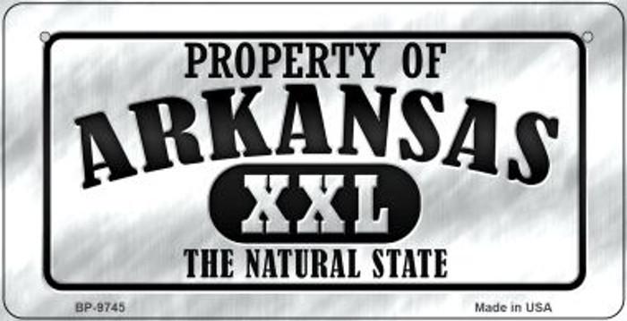 Property Of Arkansas Novelty Metal Bicycle Plate BP-9745