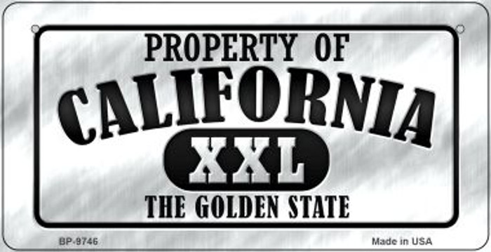 Property Of California Novelty Metal Bicycle Plate BP-9746