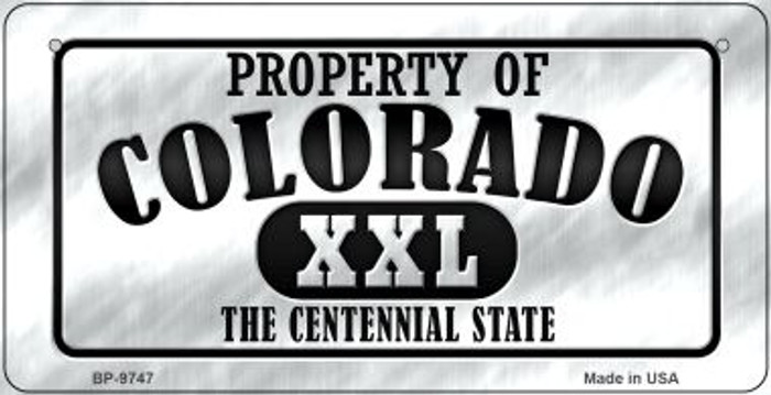 Property Of Colorado Novelty Metal Bicycle Plate BP-9747
