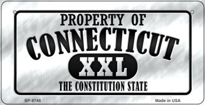 Property Of Connecticut Novelty Metal Bicycle Plate BP-9748