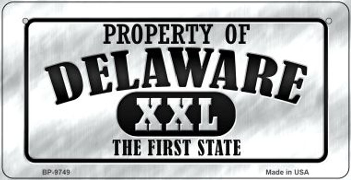 Property Of Delaware Novelty Metal Bicycle Plate BP-9749